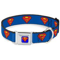 Superman Seat Belt Buckle Buckle-Down Dog Collar