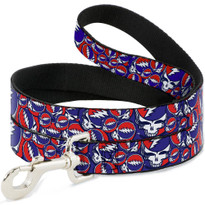 Steal Your Face Red White and Blue Buckle Down Dog Leash