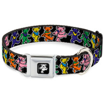 Dancing Bears Multi Color Buckle-Down Seat Belt Buckle Dog Collar