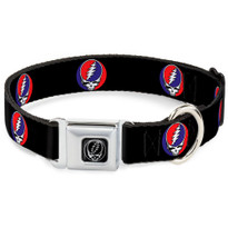 Steal Your Face Black Buckle-Down Seat Belt Buckle Dog Collar