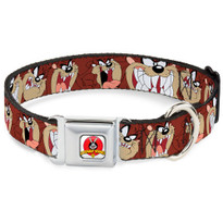 Looney Tunes Tasmanian Devil Buckle-Down Seat Belt Buckle Dog Collar