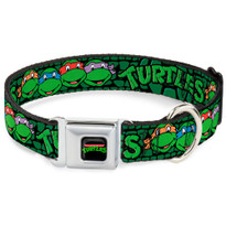Classic Teenage Mutant Ninja Turtles TMNT Logo Buckle-Down Seat Belt Buckle Dog Collar