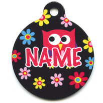 Bright Owls HD Pet ID Tag