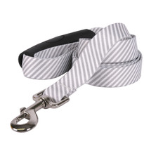 Southern Dawg Seersucker Gray Premium Dog Leash