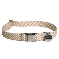 Southern Dawg Seersucker Brown Premium Dog Collar