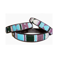 Jacaranda Beaded Kenyan Dog Collar