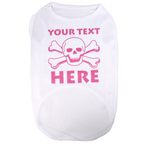 Personalized Pink Skulls Pet T-Shirt