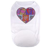 Crazy Hearts Pet T-Shirt