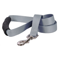 Gray Simple Solid EZ-Grip Dog Leash
