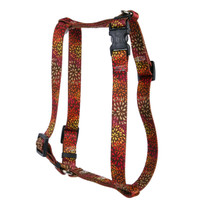 Flowerworks Red Roman Style H Dog Harness