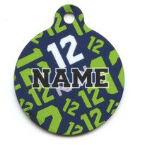 12th Dog Navy Blue HD Pet ID Tag