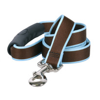 Sterling Stripes Brown and Light Blue Dog Leash