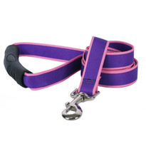 Sterling Stripes Purple and Light Pink Dog Leash