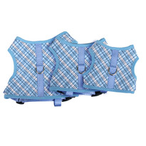 London Plaid Blue Soft Dog Harness