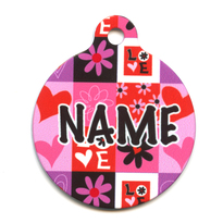 Valentines Blocks HD Pet ID Tag