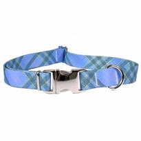 Blue Kilt Premium Metal Buckle Dog Collar