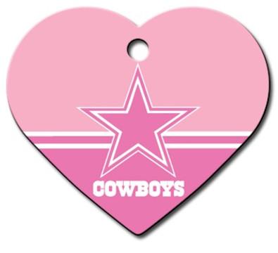 Dallas Cowboys PINK Pet ID Tag - With Engraving