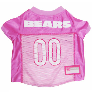 Chicago Bears PINK NFL Football Pet Jersey