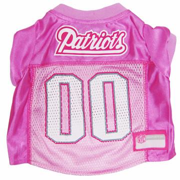 New England Patriots PINK NFL Football Pet Jersey