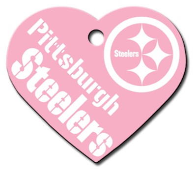 Pittsburgh Steelers PINK Pet ID Tag - With Engraving 511cda263