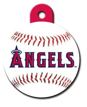 Anaheim Angels ROUND Engraved Dog ID Tag