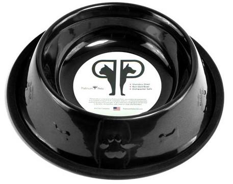 Embossed Stainless Steel NO-TIP Pet Bowl
