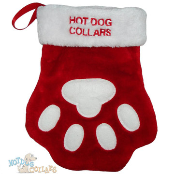 52fbc88975f Personalized Embroidered Paw Print Stocking