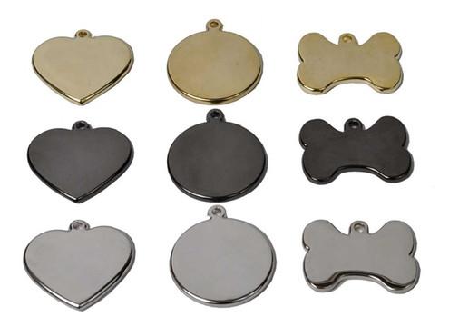 Steel, Brass, or Gun Metal Engraved Pet ID Tag
