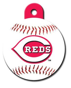 Cincinnati Reds ROUND Engraved Dog ID Tag