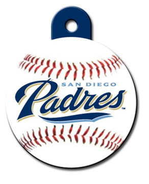 San Diego Padres ROUND Engraved Dog ID Tag