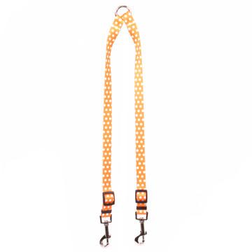 Orange Polka Dot Coupler Dog Leash