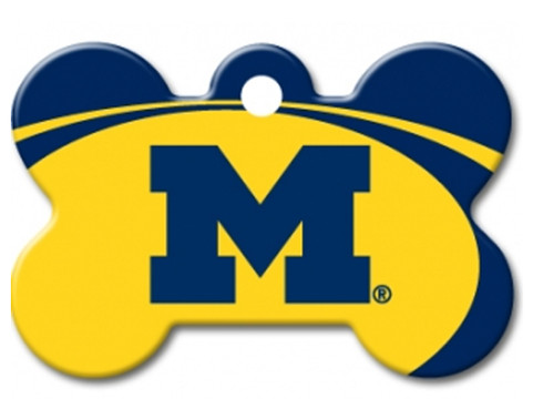 Michigan Wolverines Engraved Pet ID Tag