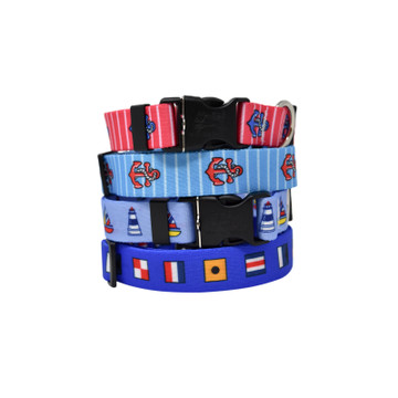 Nautical - Personalized Dog Collar
