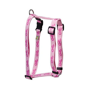 "Breast Cancer Pink Roman Style ""H"" Dog Harness"