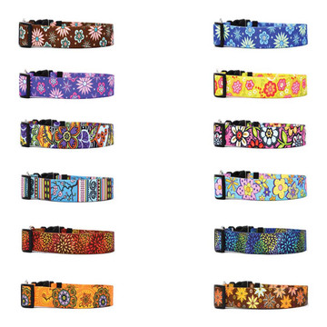 Flower Power - Personalized Martingale Pet Collar