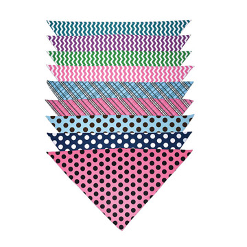 Stripes & Patterns Print Personalized Dog Bandanas