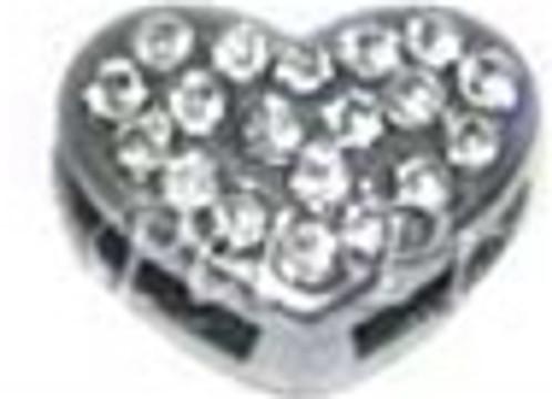 Heart Charm - Clear (10mm)