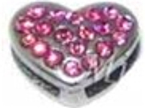 Heart Charm - Pink (10mm)