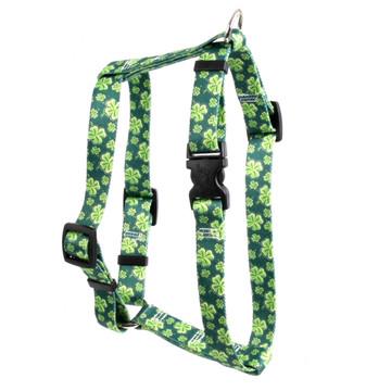"4 Leaf Clover Roman Style ""H"" Dog Harness"
