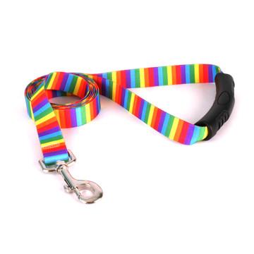 Rainbow Stripes EZ-Grip Dog Leash