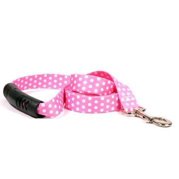 New Pink Polka Dot EZ-Grip Dog Leash