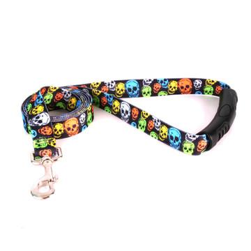 Neon Skulls EZ-Grip Dog Leash