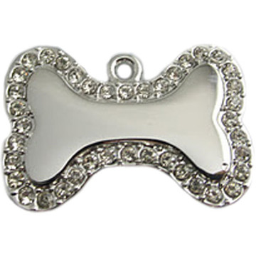 Crystal Bone Engraved Pet ID Tag - LIFETIME GUARANTEE