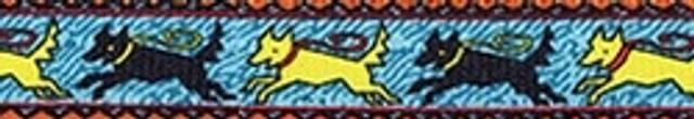 Black and Yellow Dog EZ-Grip Dog Leash