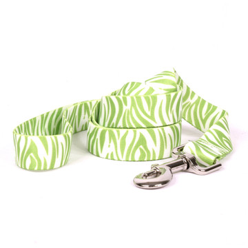 Zebra Green Dog Leash
