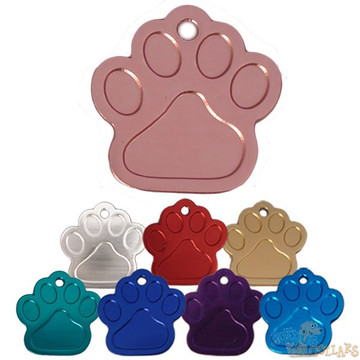 HyperLite Paw Dog ID Tag - With Engraving
