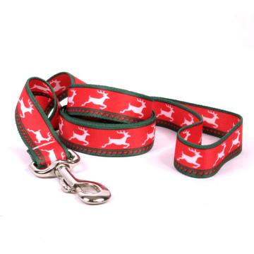 Reindeer Print Dog Leash