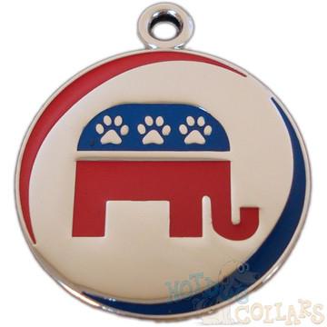 Republican Party Pet ID Tag - Lifetime Guarantee