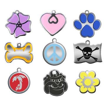 """""""Steel"""" & Enamel Engraved Pet ID Tag"""