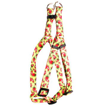 516d5dee36ed5b Hot Peppers Step-In Dog Harness by Yellow Dog Design